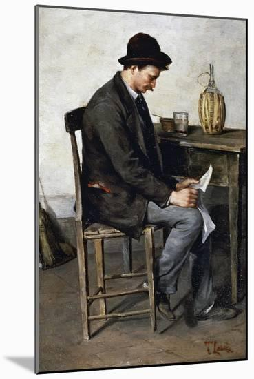 Reading Alone, 1878-1880-Tito Lessi-Mounted Giclee Print