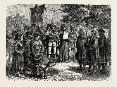 Reading an Ordinance of the Fehmgericht--Giclee Print