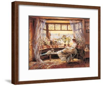 Reading by the Window Hastings-Charles James Lewis-Framed Giclee Print