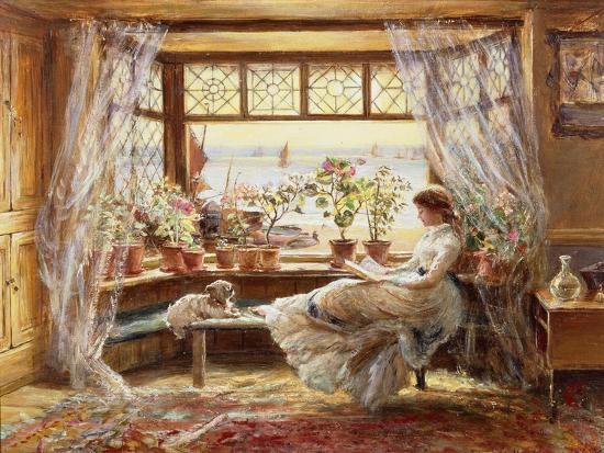 Reading by the Window, Hastings-Charles James Lewis-Giclee Print