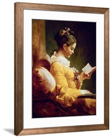 Reading Girl, 1776-Jean-Honor? Fragonard-Framed Giclee Print