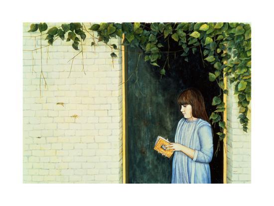Reading Girl-Ditz-Giclee Print