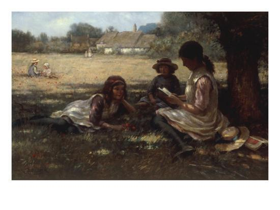 Reading in the Shadow-Kay William Blacklock-Giclee Print