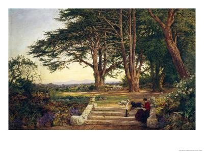 Reading on the Terrace Steps-Benjamin Williams Leader-Giclee Print
