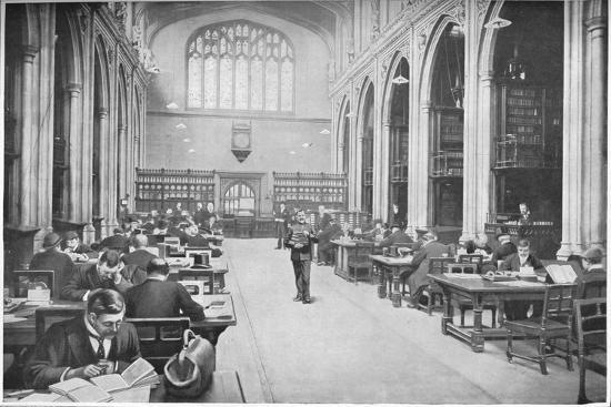 Reading room, Guildhall Library, City of London, c1903 (1903)-Unknown-Giclee Print