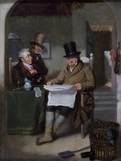 Reading the News-David Wilkie-Giclee Print