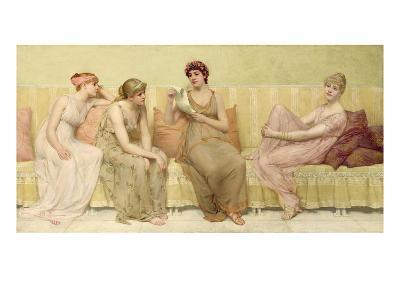 Reading the Story of Oenone, c.1883-Francis Davis Millet-Giclee Print