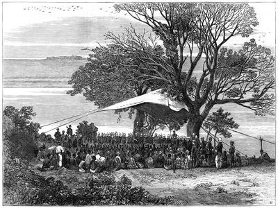 Reading the Ultimatum on the Banks of the Tugela, the Zulu War in the South, 1879--Giclee Print