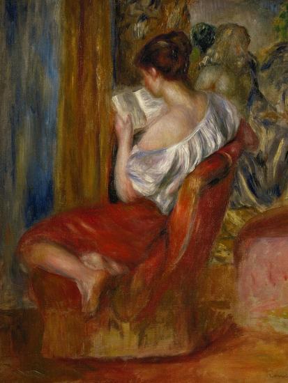 Reading Woman, circa 1900-Pierre-Auguste Renoir-Premium Giclee Print