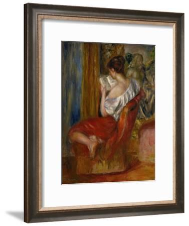 Reading Woman, circa 1900-Pierre-Auguste Renoir-Framed Giclee Print