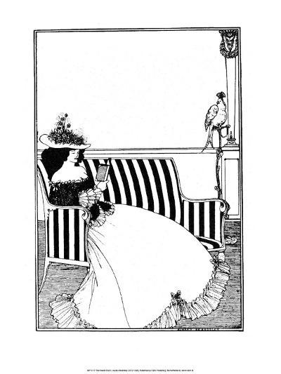 Reading Woman-Aubrey Beardsley-Art Print
