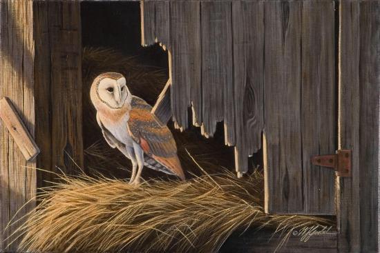 Ready for the Hunt Barn Owl-Wilhelm Goebel-Giclee Print