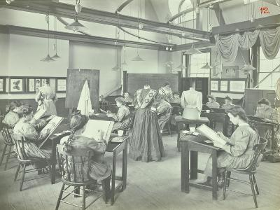 Ready Made Clothing Class, Shoreditch Technical Institute, London, 1907--Photographic Print
