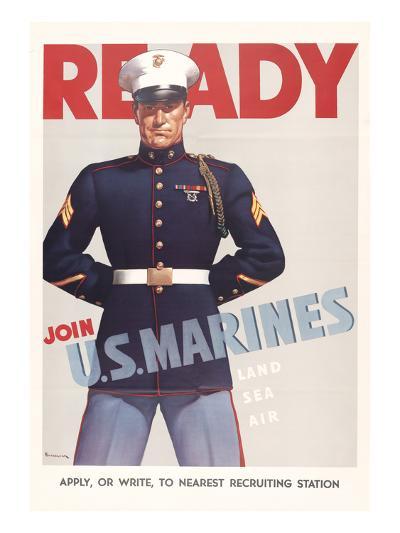 Ready, Marine Corps Recruiting Poster--Art Print