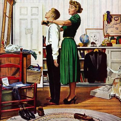 """Readying for First Date,"" October 16, 1948-George Hughes-Giclee Print"