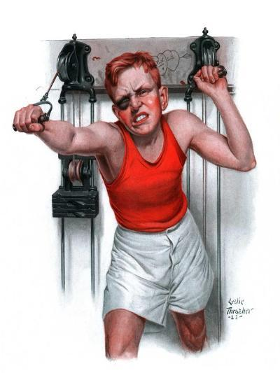 """""""Readying for Rematch,""""June 9, 1923-Leslie Thrasher-Giclee Print"""