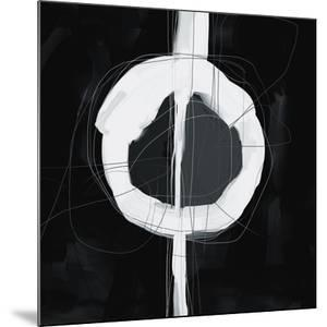Large Black, White and Grey Abstract by Real Callahan
