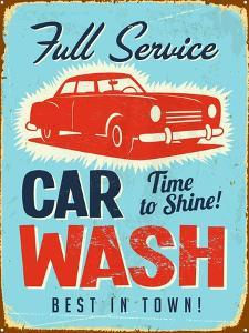 Vintage Design -  Car Wash by Real Callahan