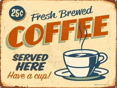 Vintage Design -  Fresh Brewed Coffee by Real Callahan