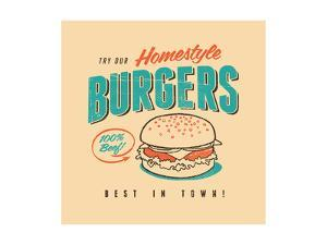 Vintage Design -  Homestyle Burgers by Real Callahan