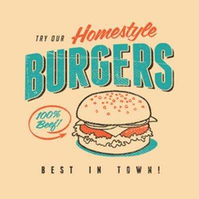 Vintage Design -  Homestyle Burgers