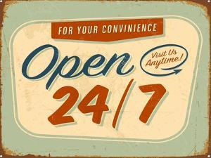 Vintage Design -  Open 24/7 by Real Callahan