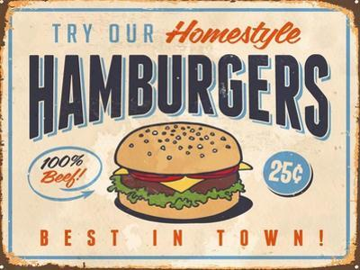 Vintage Try Our Homestyle Hamburgers
