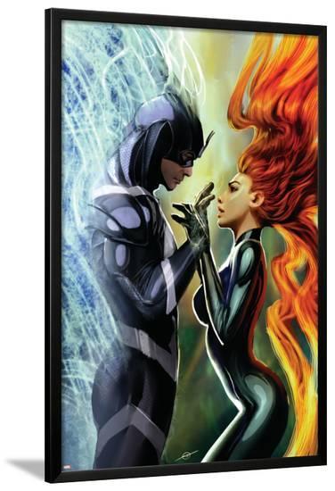 Realm of Kings Inhumans No.3 Cover: Medusa and Black Bolt-Stjepan Sejic-Lamina Framed Poster