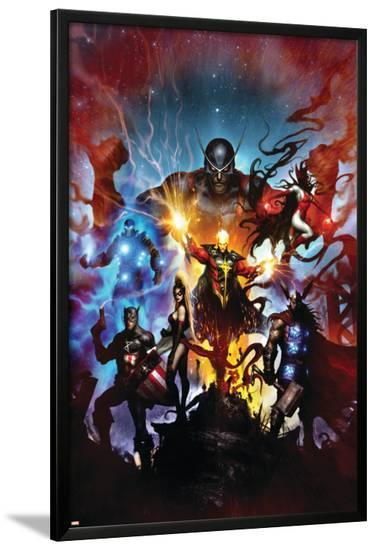 Realm of Kings No.1 Cover: Quasar-Clint Langley-Lamina Framed Poster