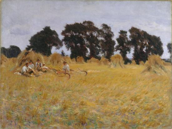 Reapers Resting in a Wheat Field, 1885-John Singer Sargent-Giclee Print