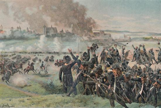 'Reappearance of Napoleon on the Field Before Ratisbon', 1809, (1896)-Unknown-Giclee Print