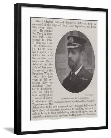 Rear-Admiral E F Jeffreys, Commander of the Cape of Good Hope Squadron--Framed Giclee Print