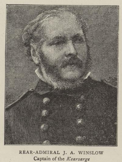 Rear-Admiral J a Winslow, Captain of the Kearsarge--Giclee Print