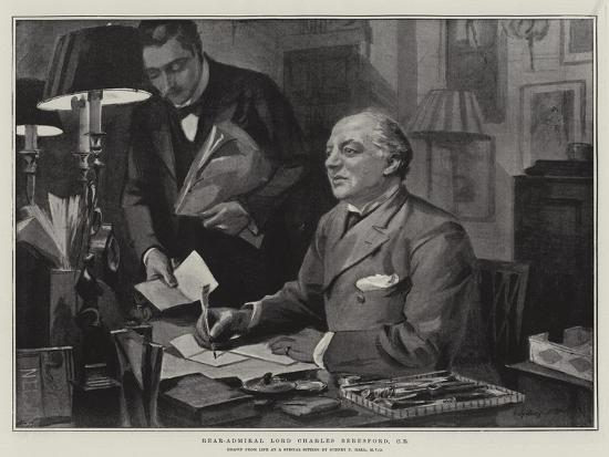 Rear-Admiral Lord Charles Beresford-Sydney Prior Hall-Giclee Print