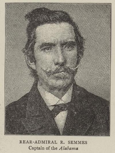 Rear-Admiral R Semmes, Captain of the Alabama--Giclee Print