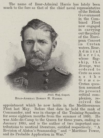 Rear-Admiral Robert H Harris--Giclee Print