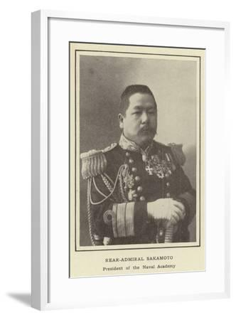 Rear-Admiral Sakamoto, President of the Naval Academy--Framed Photographic Print