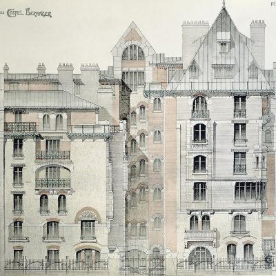 Rear Facade of Castel Beranger in Paris, 1894-98-Hector Guimard-Giclee Print