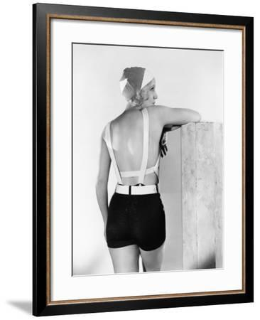 Rear View of Woman in Bathing Suit--Framed Photo
