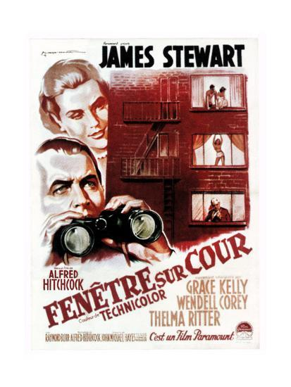 Rear Window, (aka Fenetre Sur Cour), French Poster Art, 1954--Giclee Print