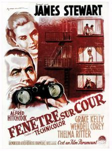 Rear Window, (aka Fenetre Sur Cour), French Poster Art, 1954