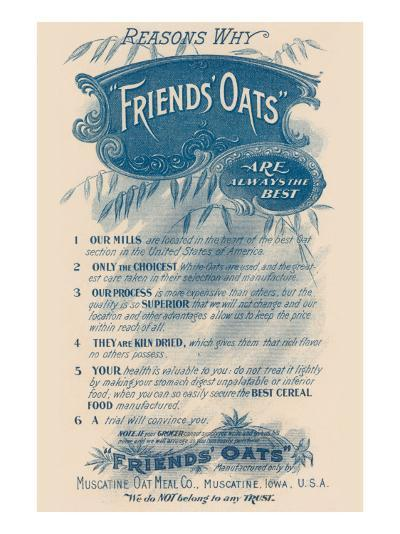 Reasons Why Friends' Oats Are the Best--Art Print