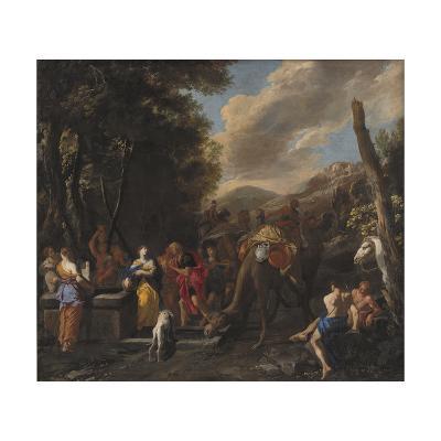 Rebecca and Eliezer at the Well, 1627-1679-Domenico Gargiulo-Giclee Print