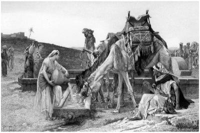 Rebecca and Eliezer, C1880-1882-Achille Jacquet-Giclee Print