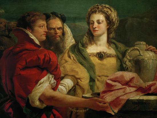 Rebecca at the Fountain-Giovanni Battista Tiepolo-Giclee Print