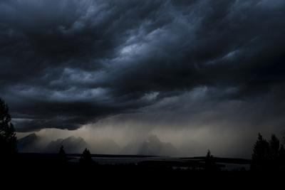 A Storm Brews Outside Of Yellowstone National Park, Wyoming