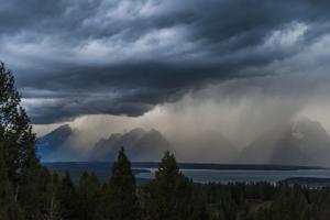 A Storm Near Grand Teton National Park, Wyoming by Rebecca Gaal