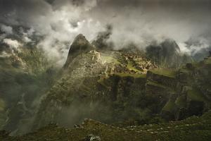 Sunrise At Machu Picchu, Peru by Rebecca Gaal