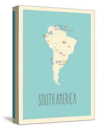 Blue America Map