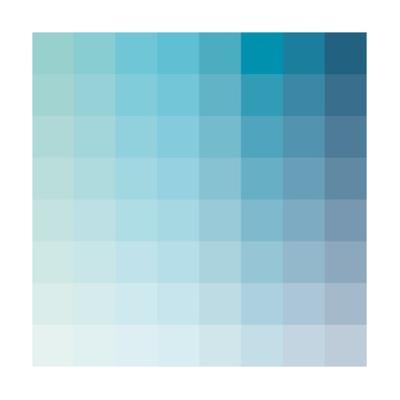 Aqua Square Spectrum by Rebecca Peragine